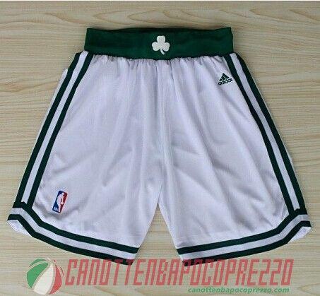 pantaloncini nba poco prezzo Boston Celtics bianco