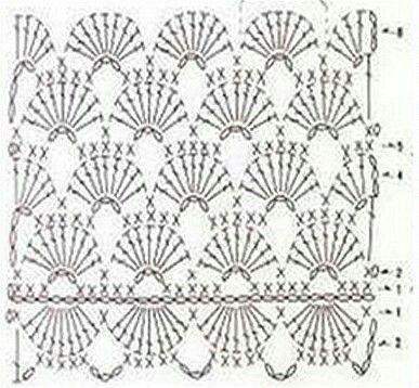 Pin von Sue Shahrouri auf Crochet Pattern and Diagram for different ...