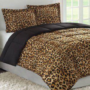 Cheetah Print Queen Comforter Set....omgosh I love it ...