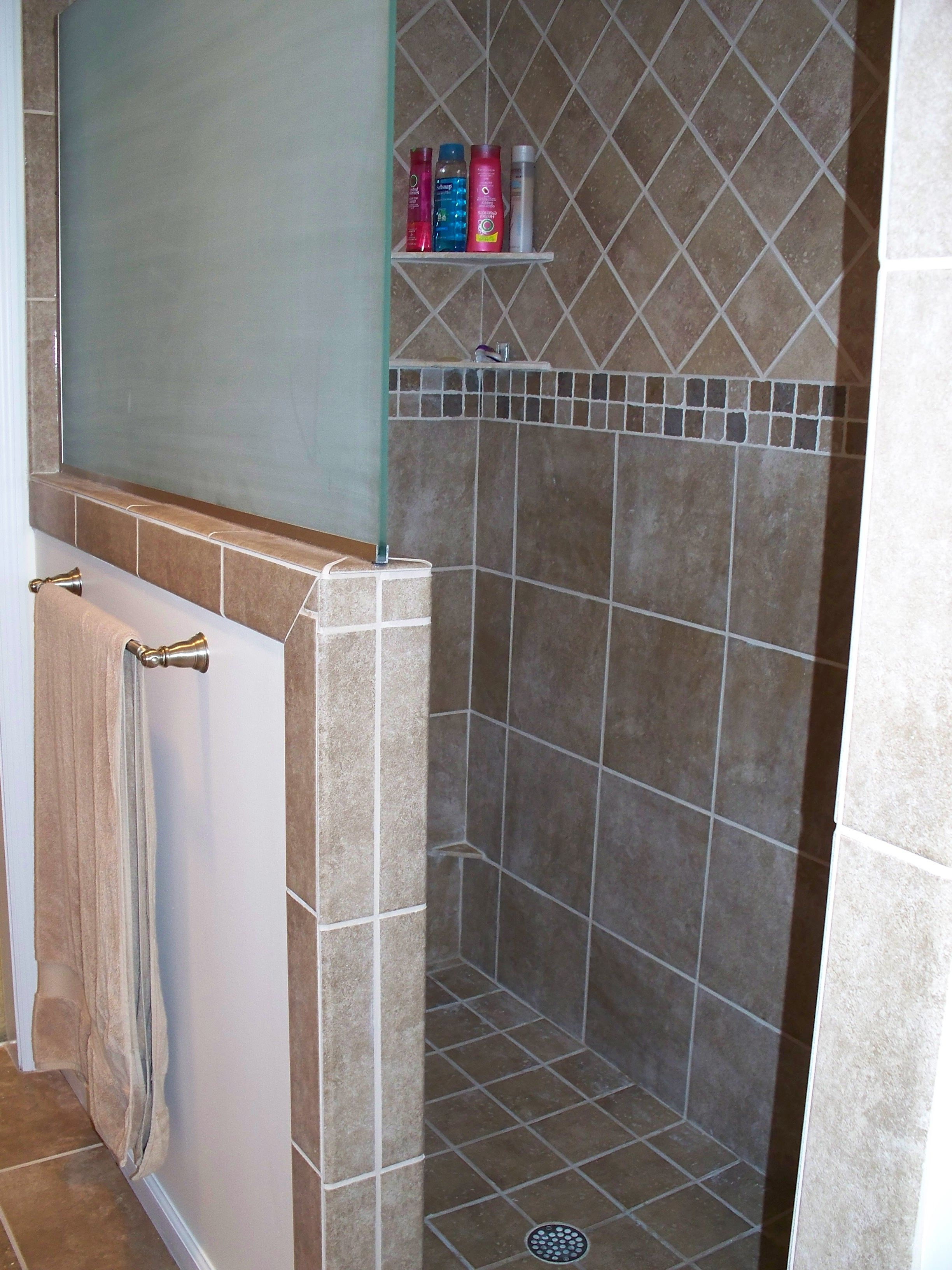 I Really Like The Idea Of Having The Half Glass Wall On The Shower Instead Of A Full Wall It O Hampton Style Bathrooms Bathroom Remodel Master House Bathroom