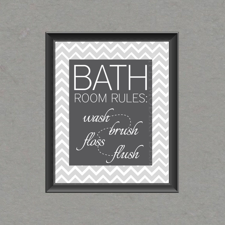 Bathroom wall art printables - Chevron Bathroom Wall Art Printable 8 50 Via Etsy Bathroom Etsy