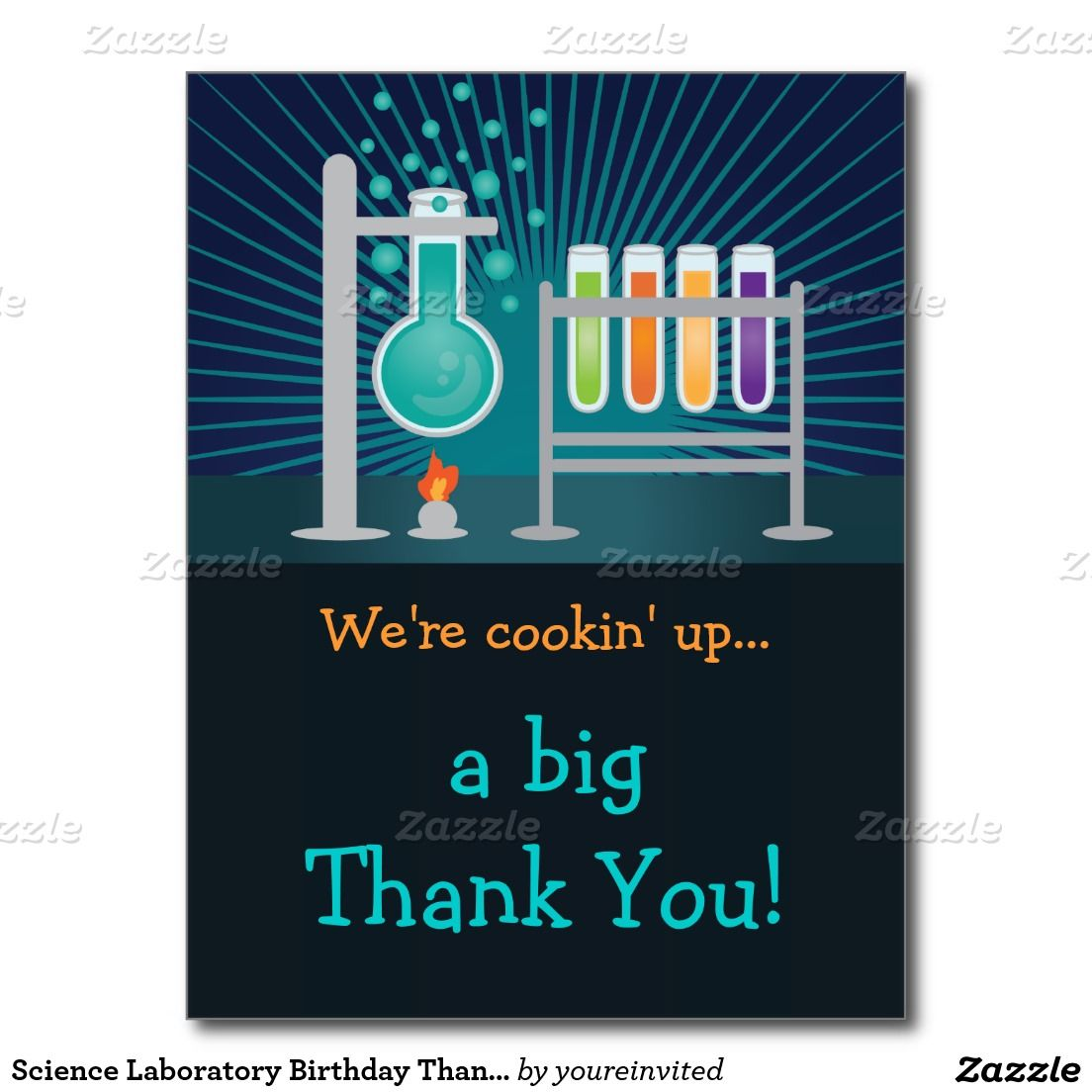 Science Laboratory Birthday Thank You Card Birthdays