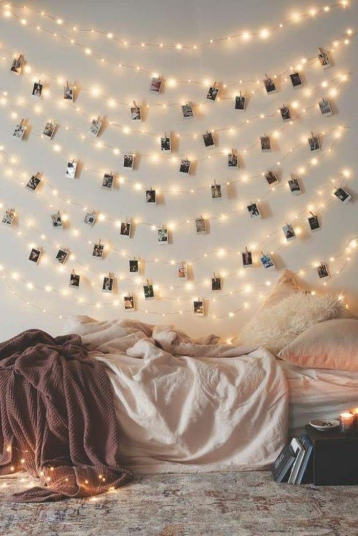 diy deko jugendzimmer mdchenzimmer dekorieren wanddeko dekogirlande leuchten - Jugendzimmerdekorideen Diy