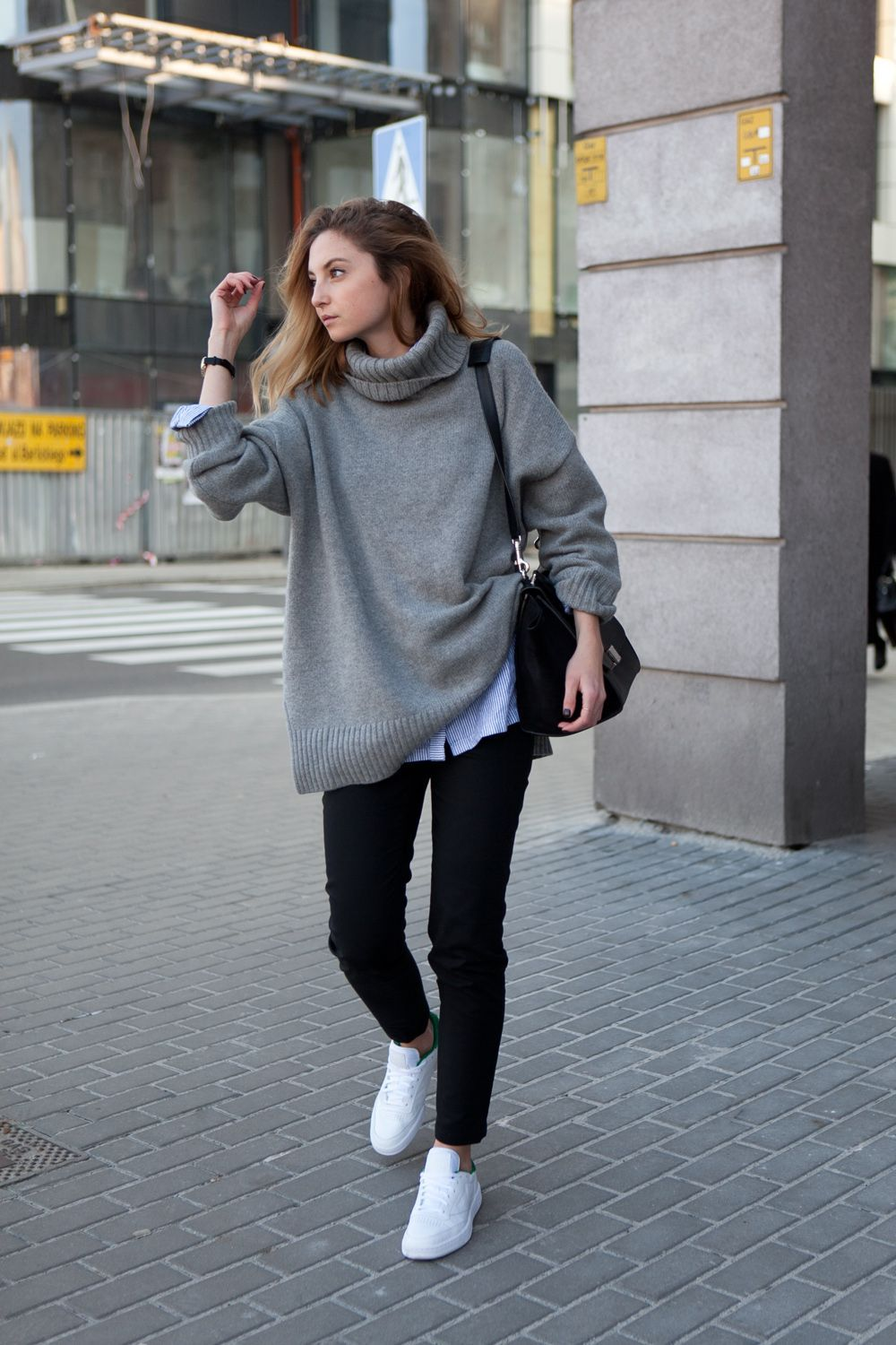 30+ Ways To Wear a Turtleneck Sweater | Sweater layering