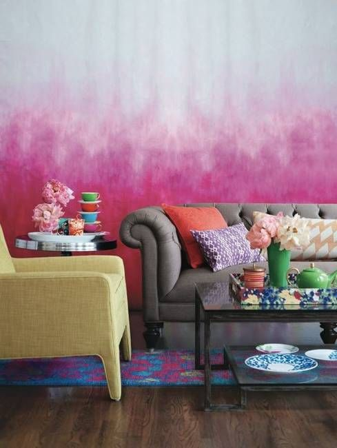 20 Modern Wall Painting Ideas Watercolor and Ombre Painting