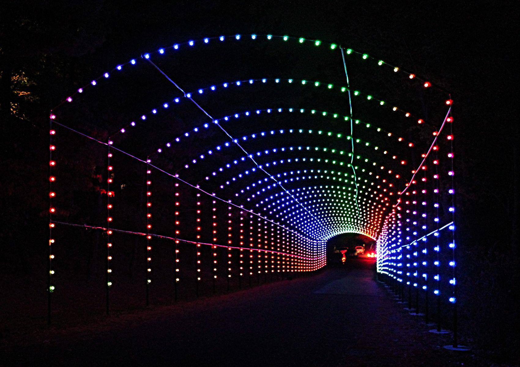 The Fascinating Rainbow Tunnel At The Winter Festival Of Lights Christmas Light Displays Festival Lights Best Christmas Lights