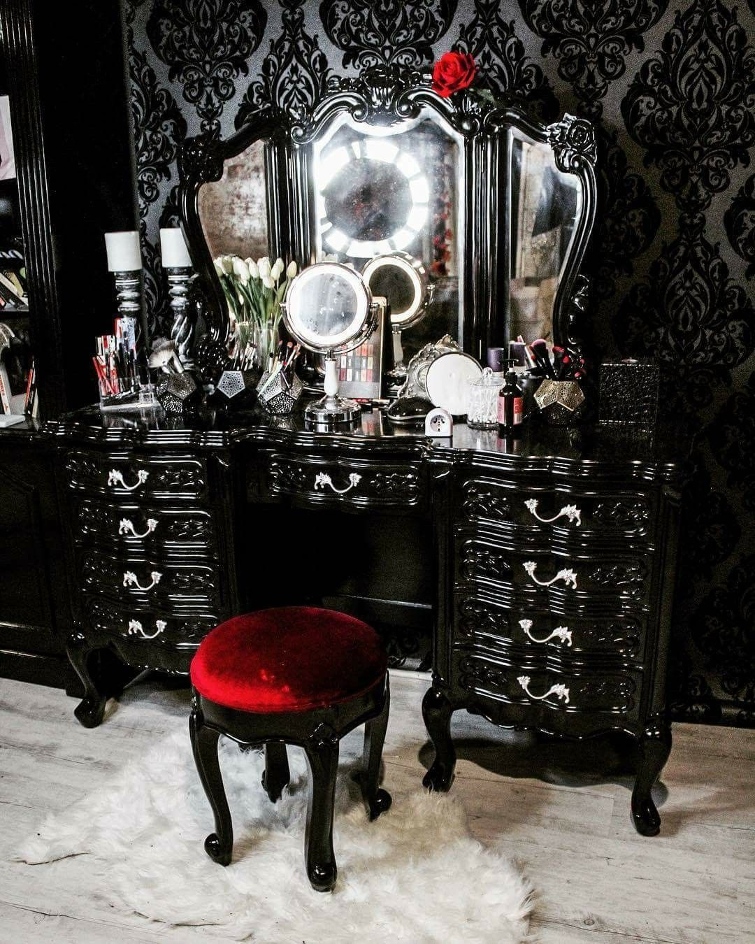 Mobili In Stile Gotico pin by hope h on home ☺ | gothic home decor, goth home
