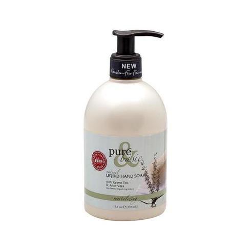 Pure And Basic Natural Liquid Hand Soap Green Tea And Aloe Vera - 12.5 Fl Oz