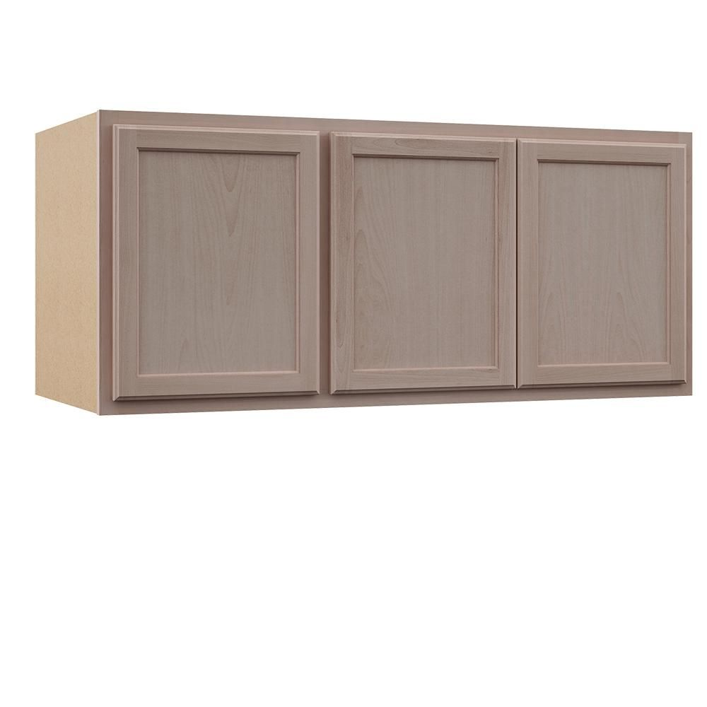 Assembled 54x24x12 In Wall Kitchen Cabinet In Unfinished Beech Kw5424 Uf The Home Depot Unfinished Cabinets Kitchen Furniture Design Cabinet