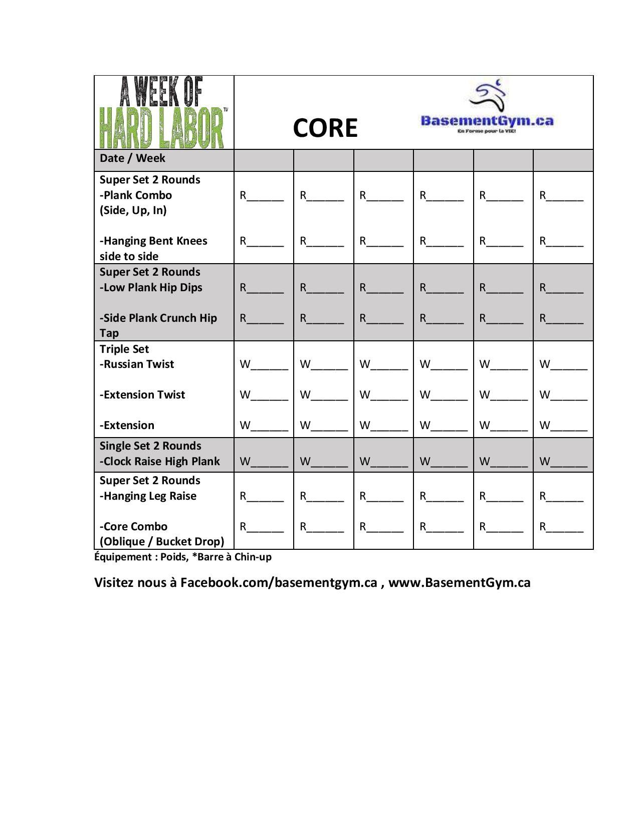 A Week Of Hard Labor Day 3 CORE | Body Beast | Pinterest