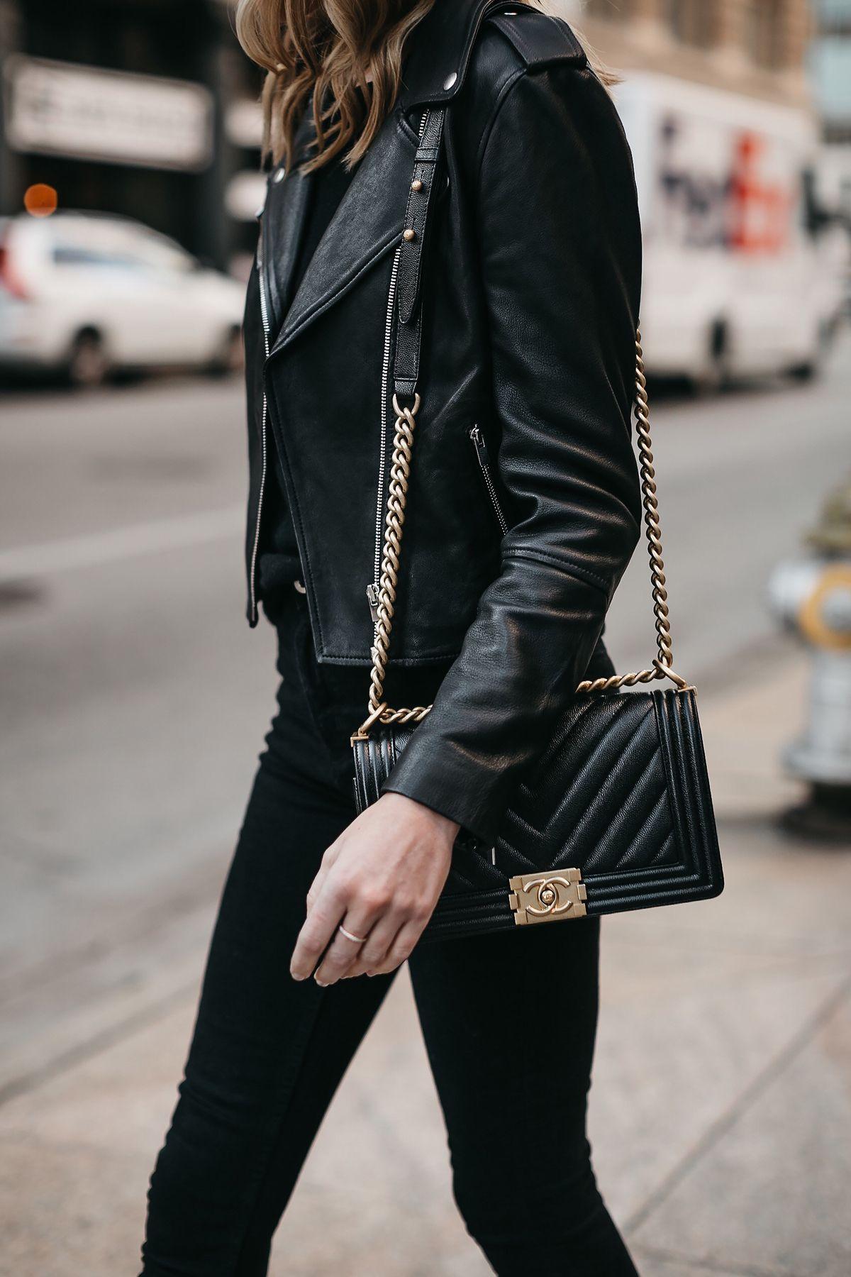 93cc1fc39378 A Stylish Way to Wear a Black Leather Jacket | Fashion Jackson ...