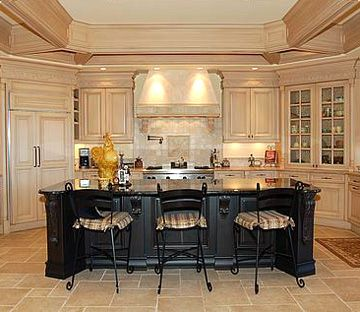 Black Pickled Cabinets | Kitchen Styles   Traditional Kitchen Style And  Country Kitchen Style