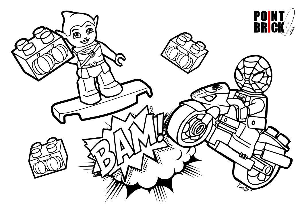 Venom Coloring Pages Lego Venom Spider Marvel Heroes: Disegni Da Colorare LEGO Duplo Marvel Super Heroes