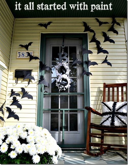 Halloween Front Door Idea Halloween Front Doors Halloween Porch