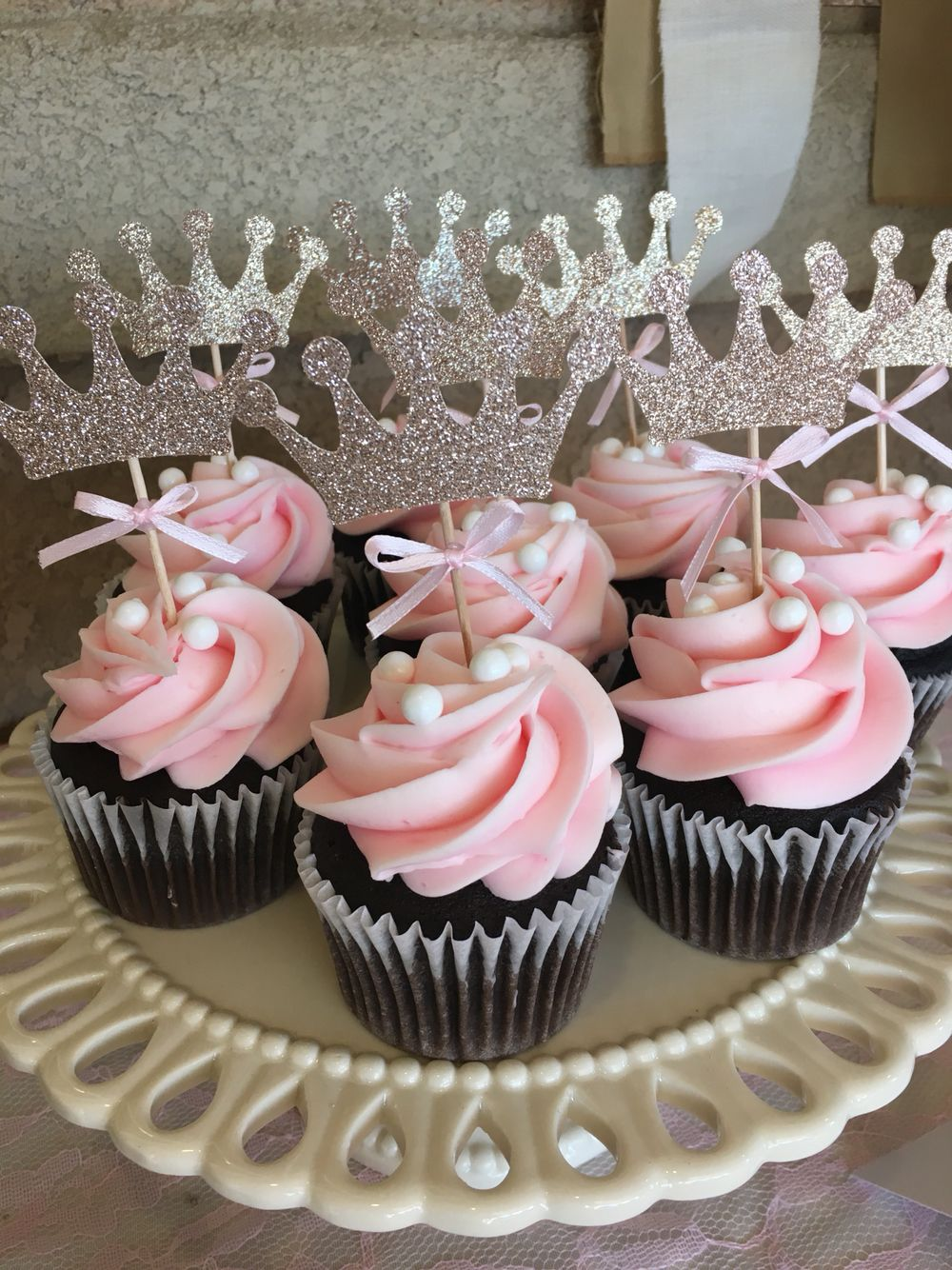 Princess Theme Baby Shower Cupcake Toppers Baby Shower Cupcake