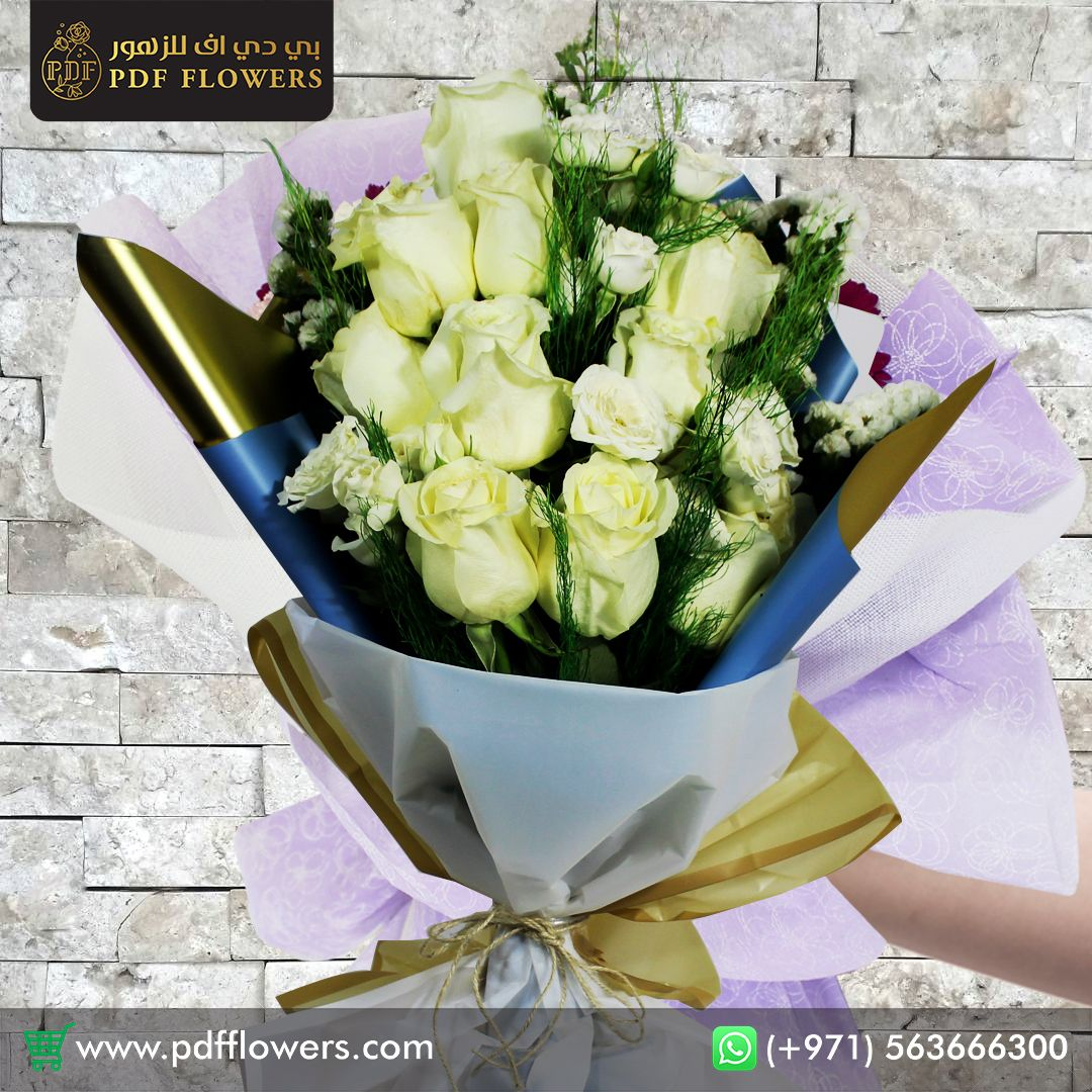 A White Rose Flower Arrangement, Send to your Lovely person from #pdfflowers . Order Now! @pdf_flowers . Delivery Across #UAE . Call or Whatsapp to (+971) 563 666 300 . . Order Online @ www.pdfflowers.com . #bouquet #bouquetflowers #bloom #blossom #floweraddict #flower_special_  #flower_perfection #flowers_super_pics #flowerpower #gifts #dxb #uae  #flower #love #flowerstagram #beautiful #instagood #nature #dxb #flowers #abudhabi #dubaimall #gifts #flowery #sharjah #flower_daily #flowering