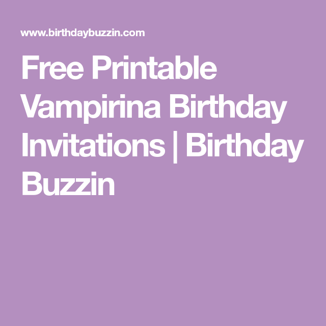 Free Printable Vampirina Birthday Invitations | Birthday Buzzin