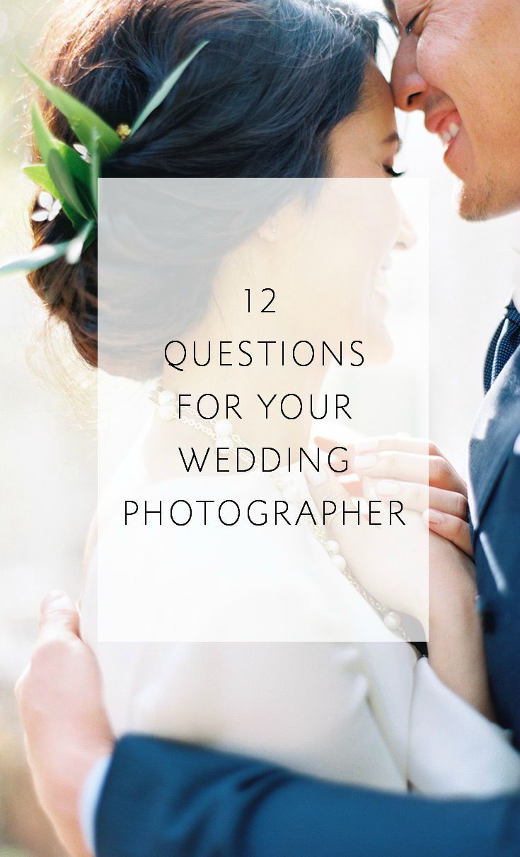 A convenient form to print and take with you as you meet with potential wedding photographers!