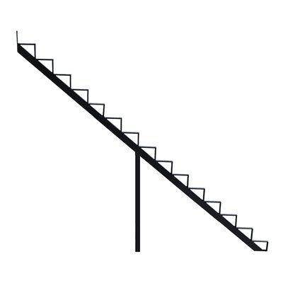 Best Pylex Deck Stair Stringer 14065 15 Step Black Aluminum 400 x 300