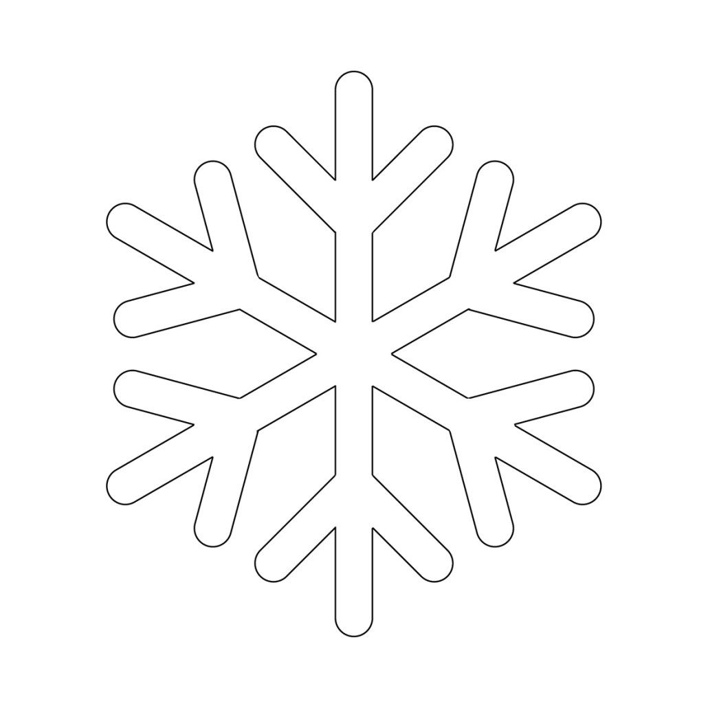 Kar Tanesi Sablonu Snowflake Pattern Kar Tanesi Aplike Sablonlari Aplike Desenleri