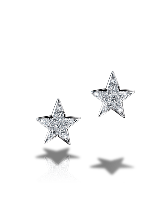 Chanel Comète Earrings in 18K white gold and diamonds.