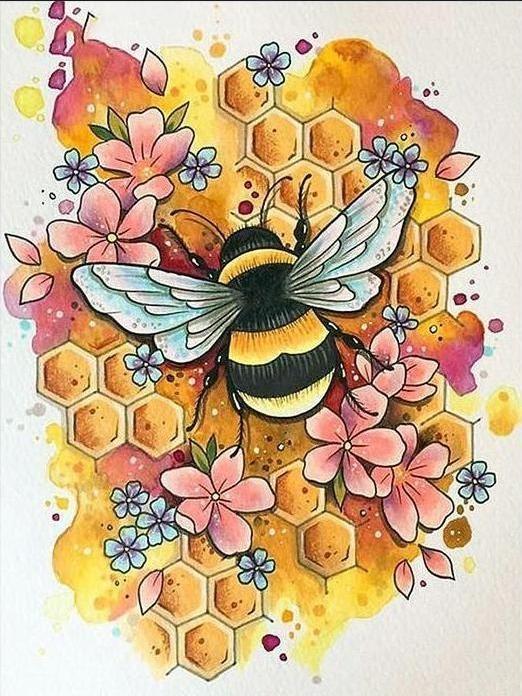 Bees Knees Honeycomb Diamond Painting Kit is part of Etsy art prints, Bumble bee tattoo, Bee art, Art tattoo, Bumble bee art, Bee tattoo - Bees Knees Honeycomb Diamond Painting Kit Bees Knees Honeycomb Diamond Painting Kit