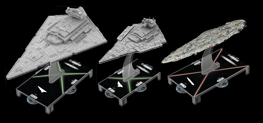 Comparison Of The Size Of The Imperial Star Destroyer, Victory Star  Destroyer And The Mon Calamari MC80 Cruiser.