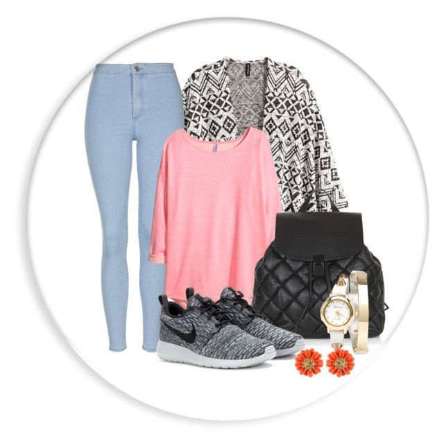 """""""The day"""" by medicicapetiens ❤ liked on Polyvore featuring H&M, Topshop, NIKE and 2b bebe"""