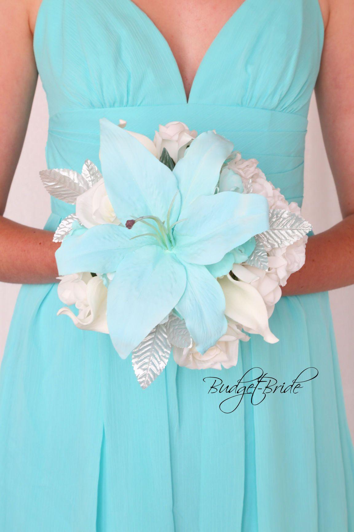 Tiffany Blue And Silver Theme Wedding Flowers Davids Bridal Spa
