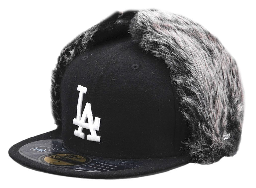 Los Angeles LA Dodgers MLB Knock Cold DogEar Black New Era Cap 59FIFTY  Fitted Baseball Cap 486927ed9