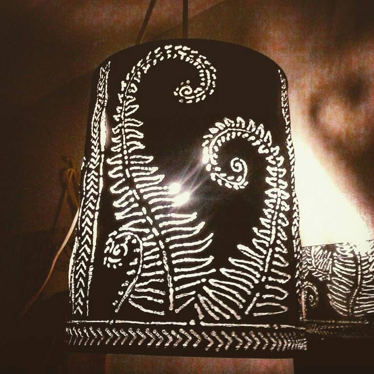 Shadow Lamps pendant light boho/farm style metal lamp fixture, artistic welding