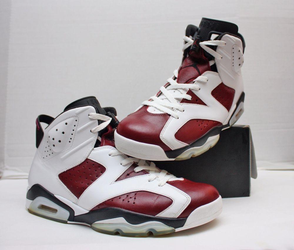 Custom Nike Air Jordan VI 6 Retro Size 10.5-White Wine Black-Carmine-  384664 160