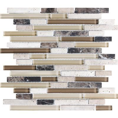Sassi - Portabella Glass Blend Linear Strips - 12-126 - Home - Bathroom..Sassi - Portabella Glass Blend Linear Strips - 12-126