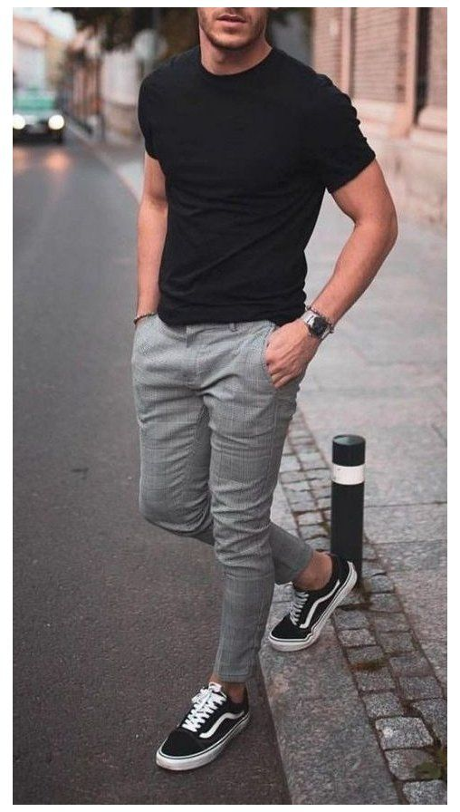 mens outfits with black boots