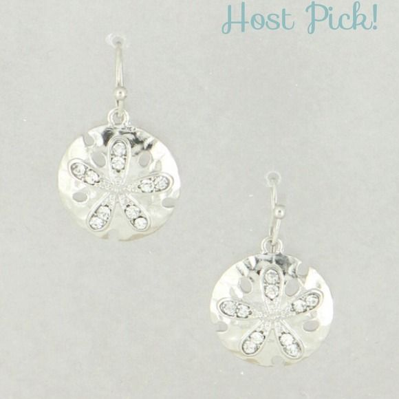 2 for 20Rhodium hammered sand dollar earrings New! Price final unless bundled for 15% off. No paypal or trades. Rhodium tone. Mix & match with any other 2 for $20 item in my closet. Please comment under the items you'd like so I can create a bundle listing. Jewelry Earrings