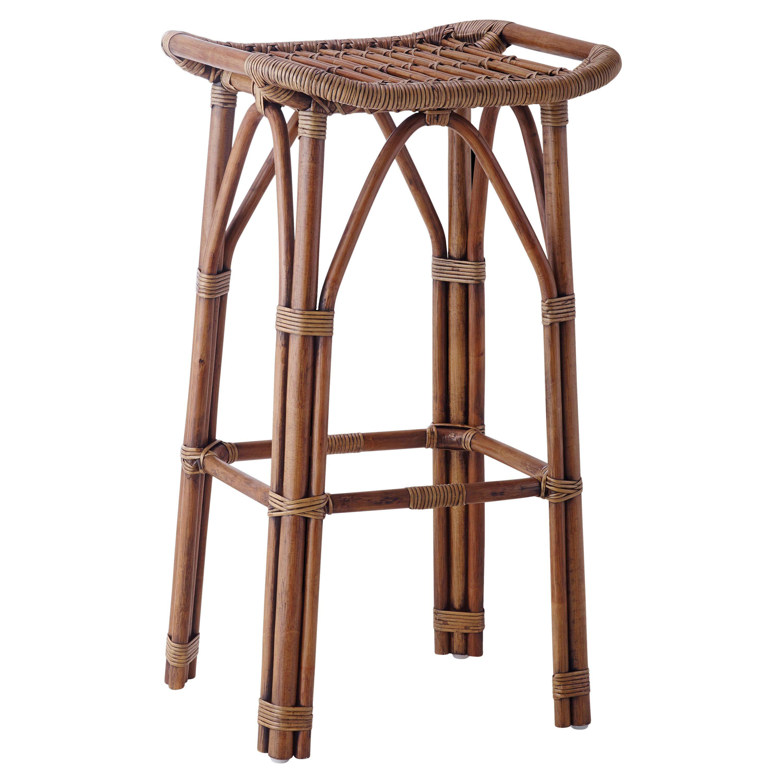bailey coastal beach brown rattan bar stool coles pond furnishings rh pinterest com