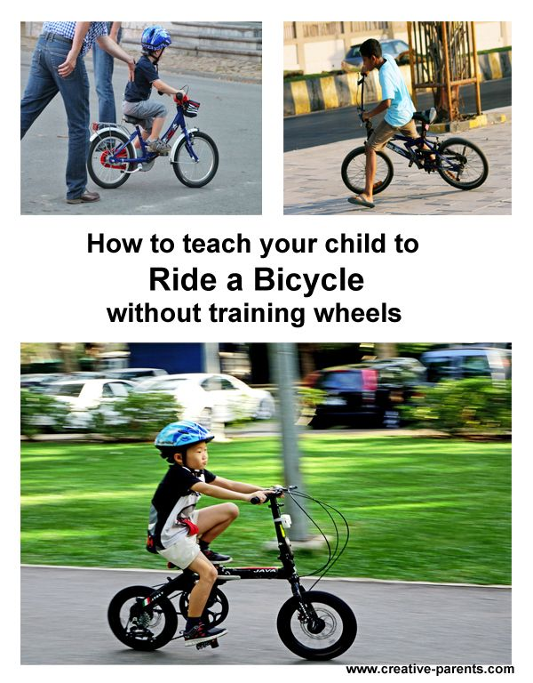 How To Teach Child To Ride A Bicycle Without Training Wheels