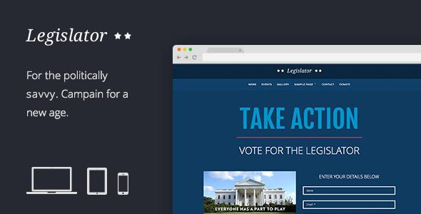 Legislator Political Wordpress Campaign  Template Green Party