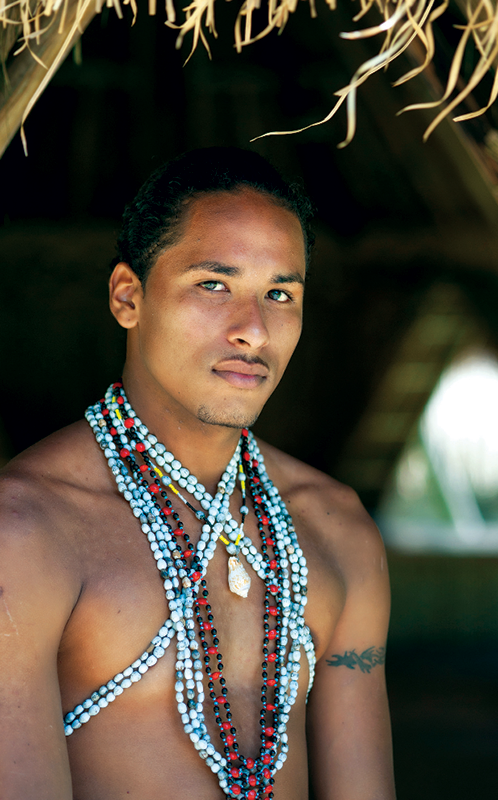 A proud member of Dominica's Kalinago tribe.Carib Indian ...