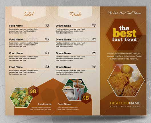 Creative InDesign Food Menues 2Pages Food Menu Pinterest - free cafe menu templates for word