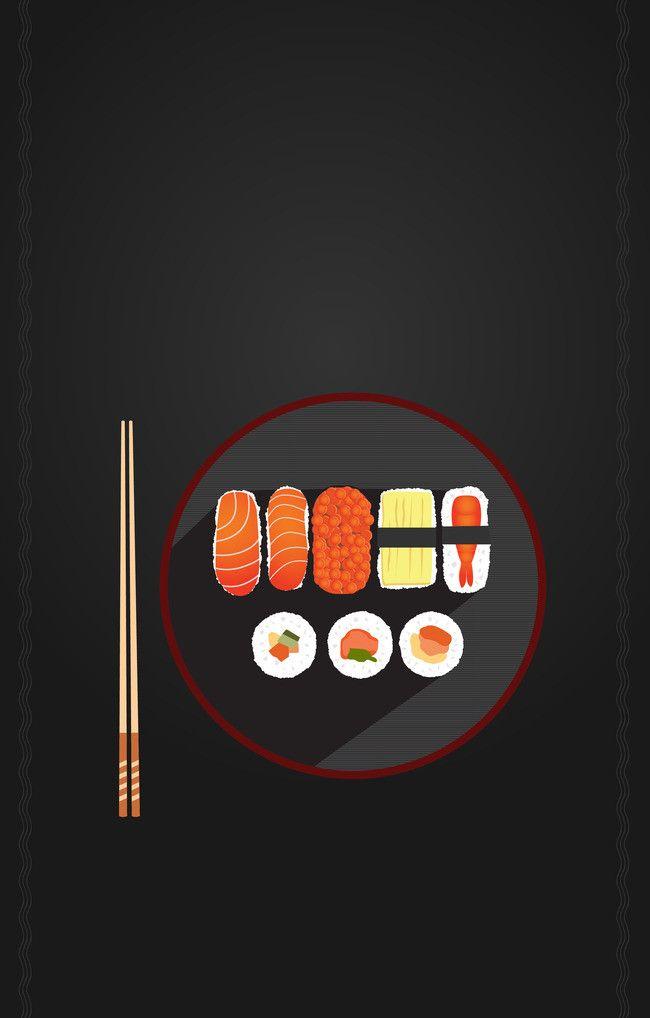 Comida Japonesa  Sushi Delicioso  Cartazes De Propaganda  Material De Fundo