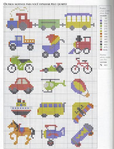 Schemi a punto croce piccoli oggettini per tanti for Piccoli ricami punto croce per bambini