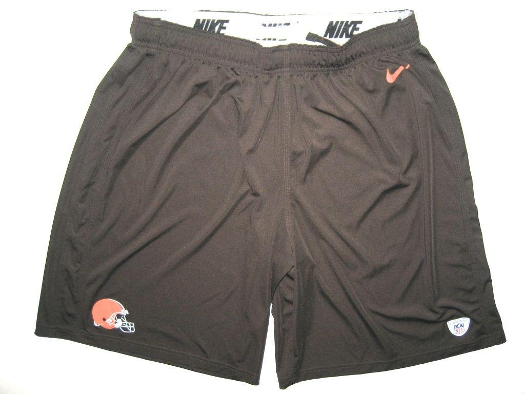118479fb Alex Tanney Practice Worn Cleveland Browns Nike Shorts | Cleveland ...