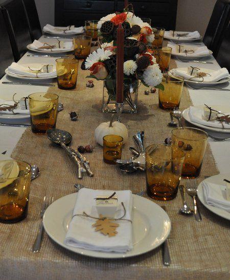 Diy Burlap Table Runner Thanksgiving Table Thanksgiving