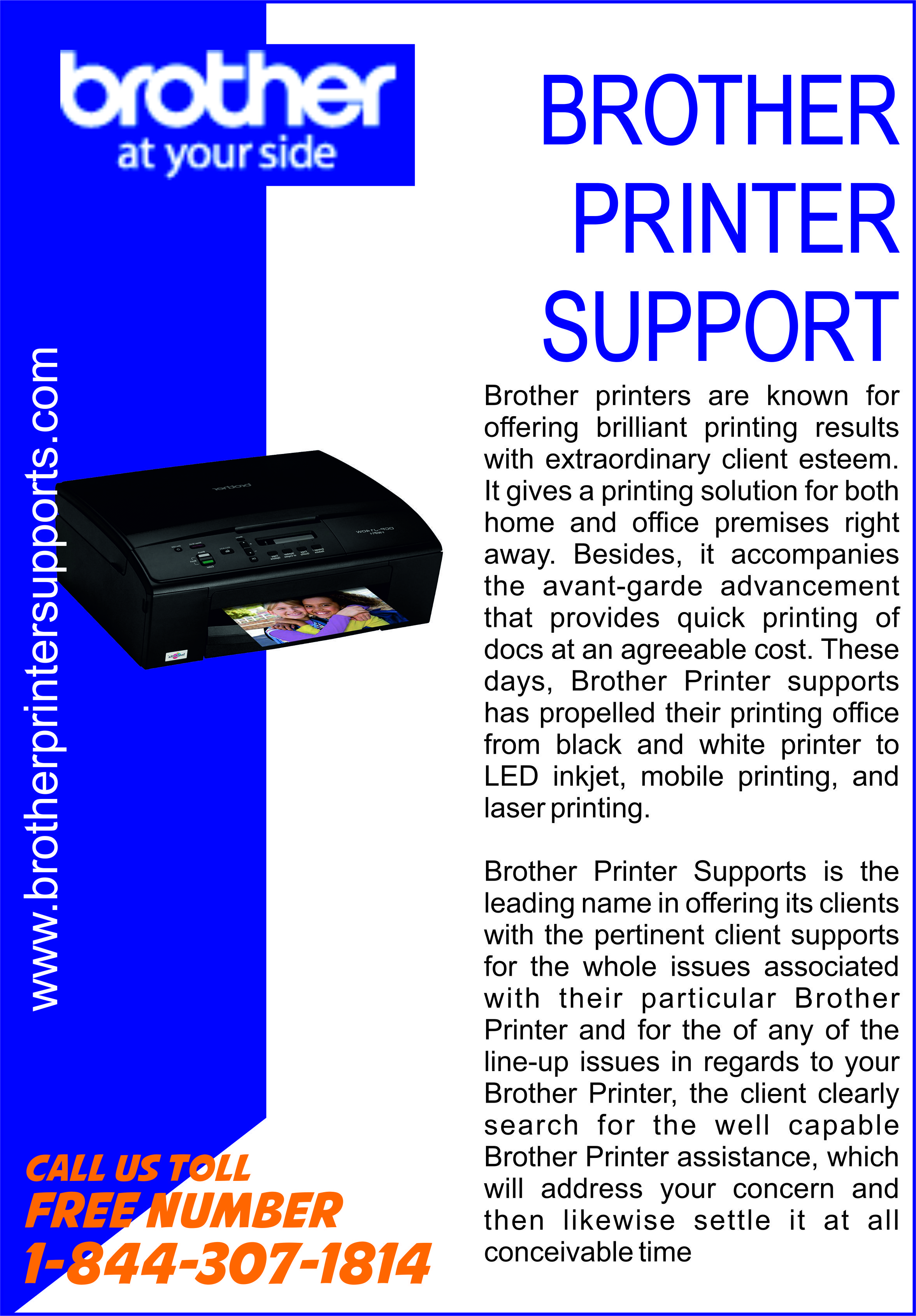 Brother Printer Tech Support Number Canada 1844307