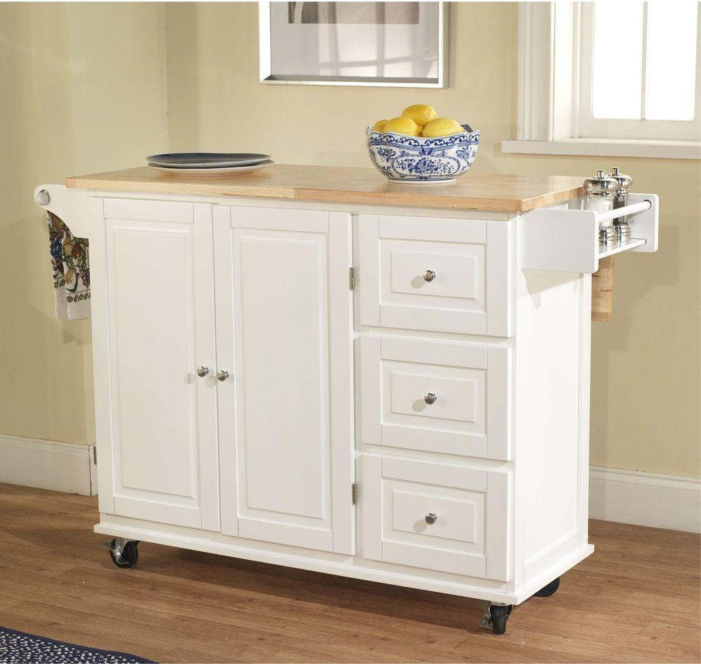 Kitchen Cart Drawer Spice Rack Drop Leaf Adjustable Shelf Chrome ...