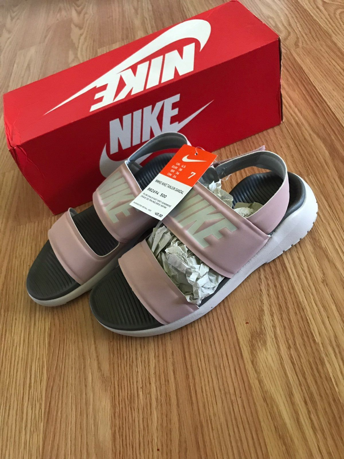 Light Pink Nike Tanjun Sandals .Brand new with tags .Never ...