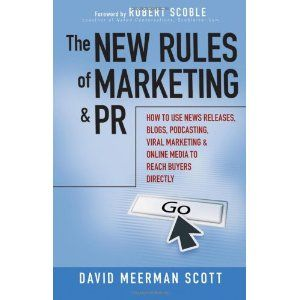 The New Rules of Marketing and PR: How to Use News Releases, Blogs, Podcasting, Viral Marketing and Online Media to Reach Buyers Directly (Hardcover)  http://mapleflavoring.com/amazonimage.php?p=0470113456  0470113456