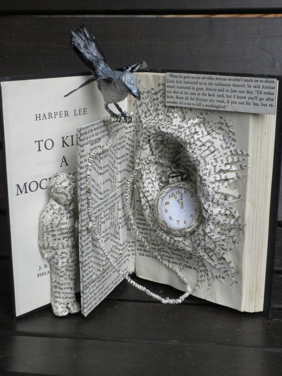 Up Cycle To Kill A Mockingbird Book Sculpture Books