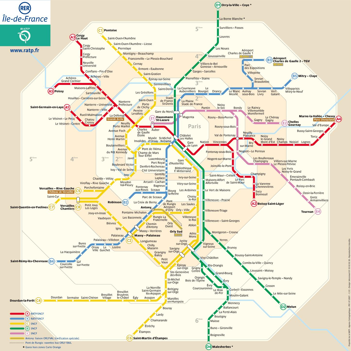 RER - Réseau Express Régional - Trens regionais de Paris | PARIS Pdf Map Of Paris on paris world map, paris road map, paris map art, paris satellite map, paris underground map, paris bus map, paris tx map, paris map directions, paris metro, paris subway map, paris map print, paris streets, paris tourist map, paris map google, paris michigan map, paris map book, eiffel tower pdf, paris ar map, paris france map, paris tour map,